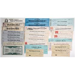 Lot of Various Blank and Signed Checks