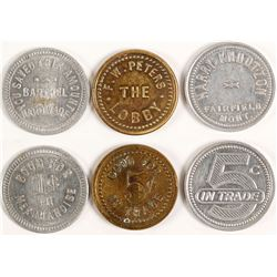 Grab bag of three tokens
