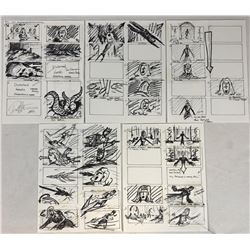 Wishmaster (1997) - Original Hand Drawn Storyboards - Set of 5 lot A