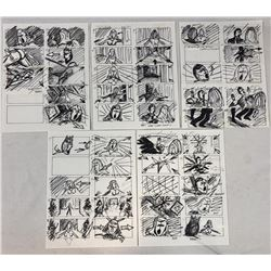Wishmaster (1997) - Original Hand Drawn Storyboards - Set of 5 lot B