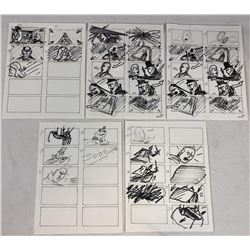 Wishmaster (1997) - Original Hand Drawn Storyboards - Set of 5 lot D