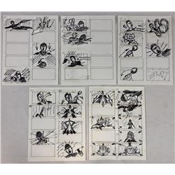 Wishmaster (1997) - Original Hand Drawn Storyboards - Set of 5 lot E