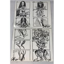 Tales from the Darkside: The Movie (1990) - Original Hand Drawn Storyboards - Set of 2 lot A