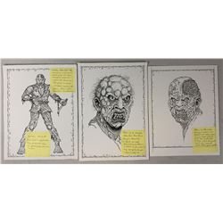 The Rage (2007) - Creature Designs Concept Original Art Set of 3 - Lot B