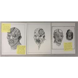 The Rage (2007) - Creature Designs Concept Original Art Set of 3 - Lot C