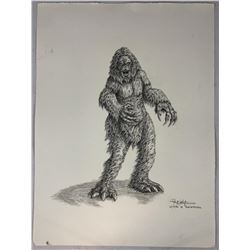 Yeti Original Concept Art by Robert Kurtzman