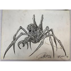Spider Bug Creature Original Hand Drawn Concept Artwork