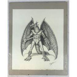Dragon Warrior Original Concept Art by Robert Kurtzman