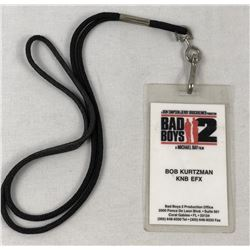 """Bad Boys II"" (2003) Robert Kurtzman Signed Crew Pass"
