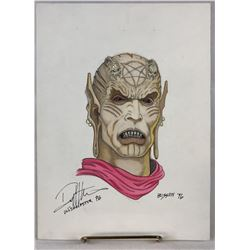 Wishmaster (1997) - Djinn Head Color Concept Artwork