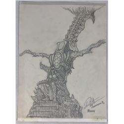 "Wishmaster (1997) - Djinn""s Throne Concept Artwork - Set of 2"