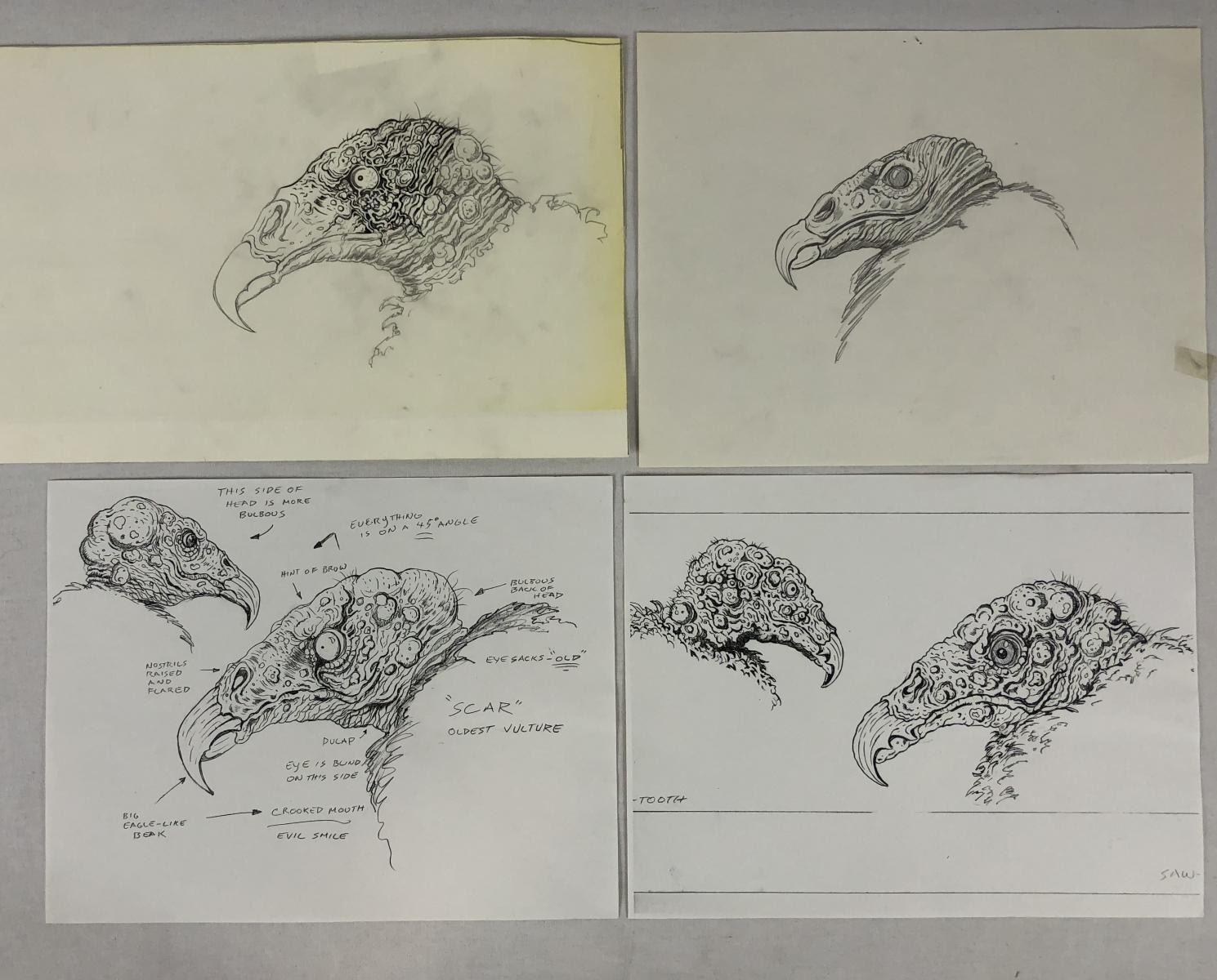 The Rage 2007 Vulture Concept Art Set Of 4