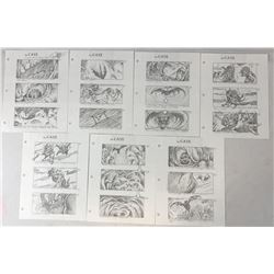 The Cave (2005) - Collection of 7 Hand Drawn Storyboard Sheets