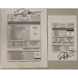 The Neighbor (2016) - Collection of Signed Call Sheets