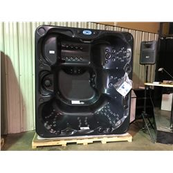 """CAL SPAS TRANQUILITY 92"""" X 84"""" HOT TUB WITH 85 SS JETS, FREEDON SOUNDSYSTEM BLUETOOTH STERO"""
