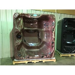 """CAL SPAS METALLIC BROWN 92"""" X 84"""" HOT TUB WITH 85 SS JETS, FREEDOM SOUNDSYSTEM BLUETOOTH STERO"""