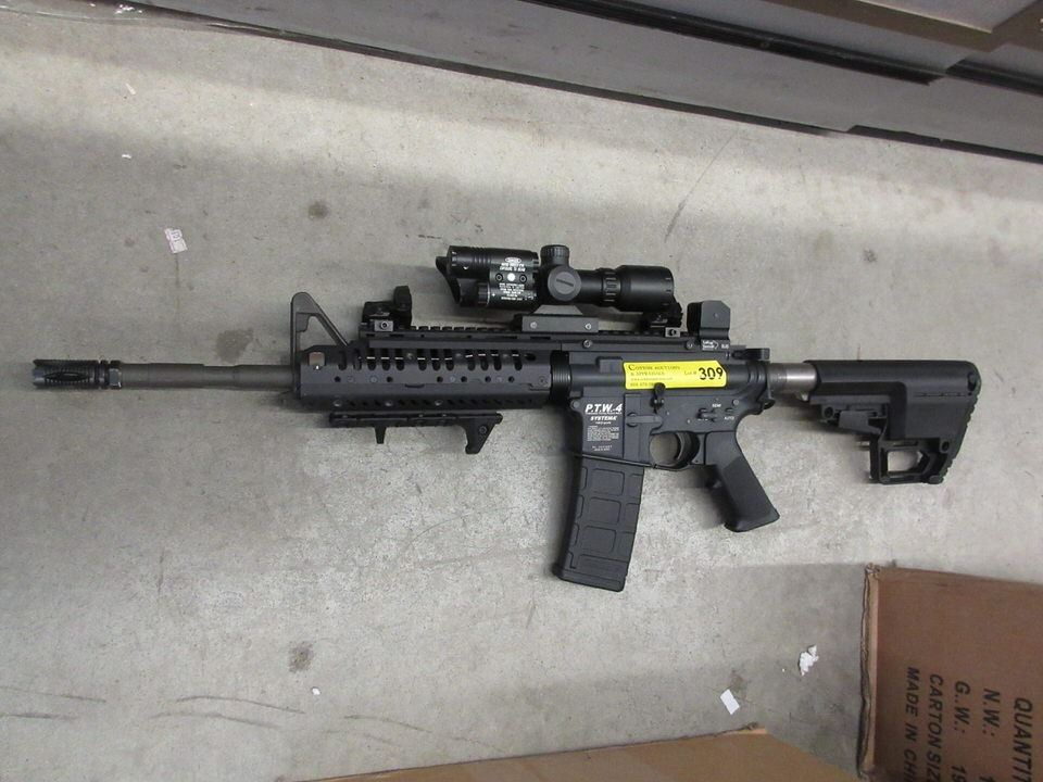 Systema P T W -4 Airsoft with Laser Sight