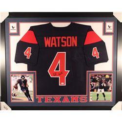 c0875378e54 Deshaun Watson Signed Texans 35x43 Custom Framed Jersey (JSA COA)