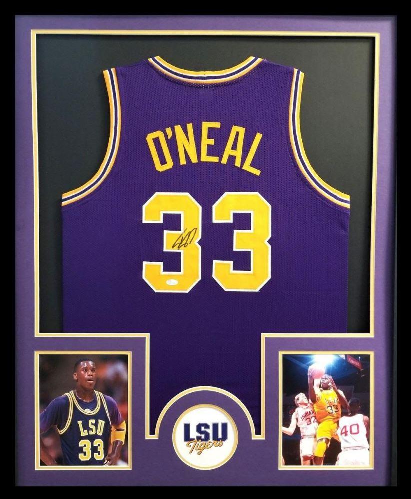 83176e92862 Image 1 : Shaquille O'Neal Signed LSU Tigers 34x42 Custom Framed Jersey (JSA