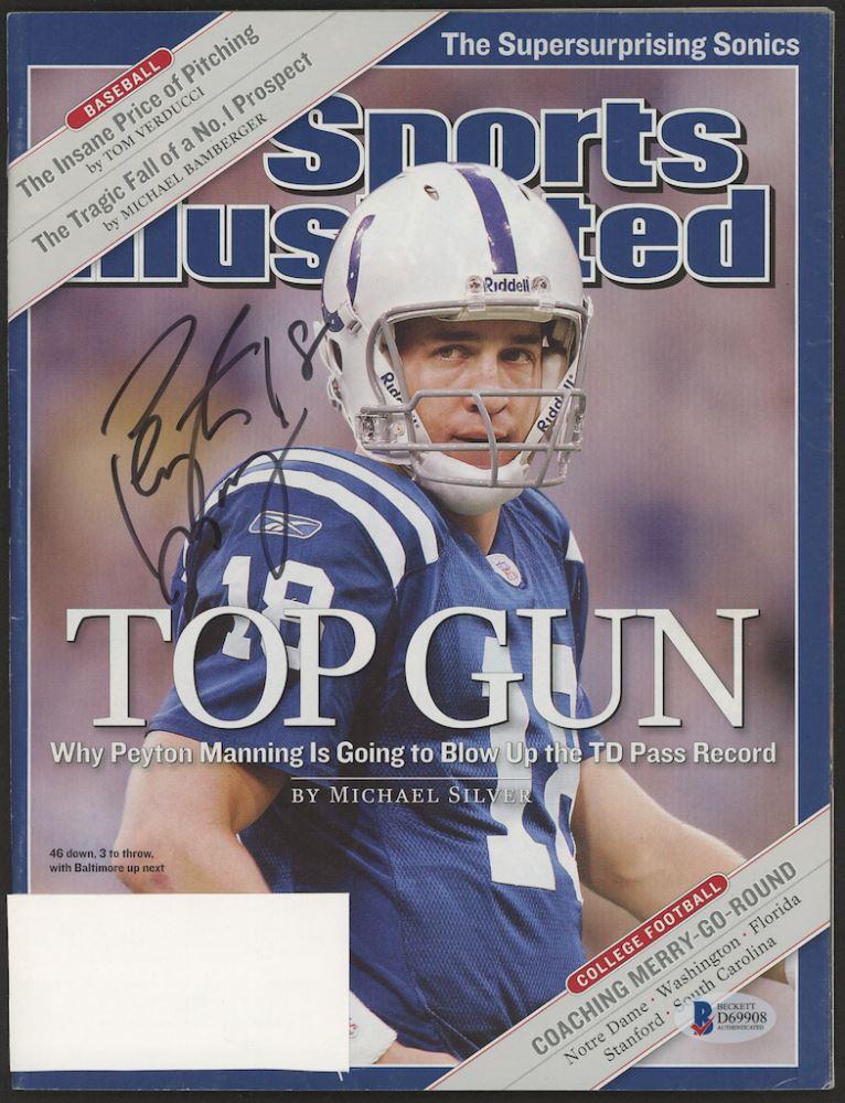 Peyton Manning Signed 2004 Sports Illustrated Magazine