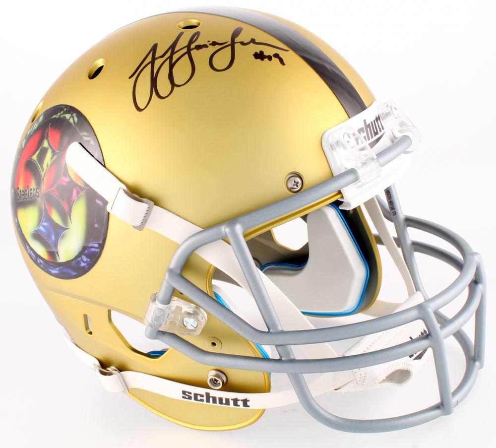 95fd6128e67 Image 1   JuJu Smith-Schuster Signed Steelers Full-Size Custom Satin Gold  Helmet