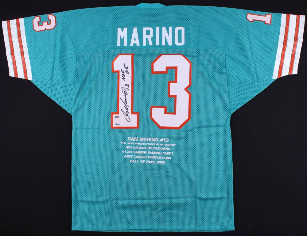 release date: b4df8 e1927 Dan Marino Signed LE Dolphins Career Highlight Stat Jersey ...