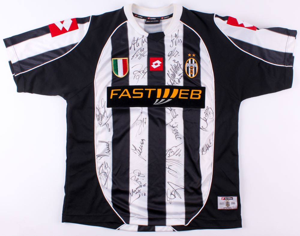 detailed look 540e7 10e31 2003-04 Juventus Jersey Team Signed by (21) with Pavel ...