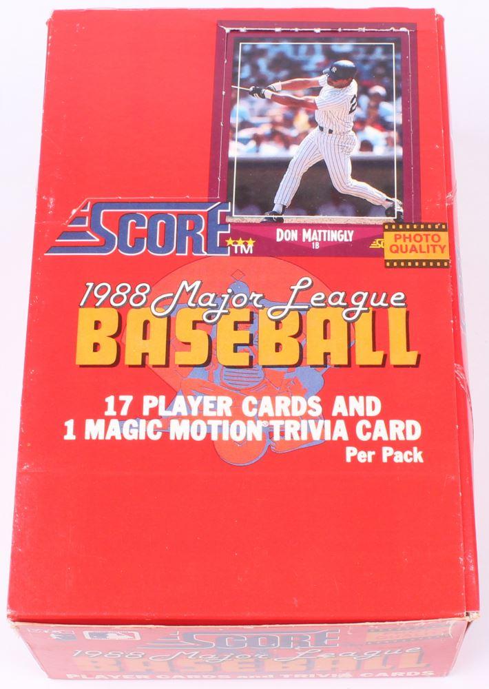 1988 Score Baseball Box Of 36 Packs