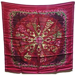 Hermes Silk Aux Pays des Epices Silk Scarf in Pink