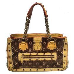 Louis Vuitton Limited Edition Trompe L'oeil Le Fabuleux Velvet Shoulder Bag