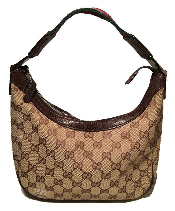 f0e0a17f1 Image 1 : RARE Gucci Monogram Canvas Mini Handbag ...