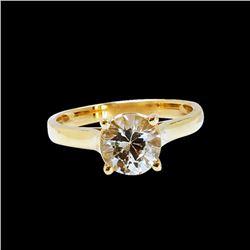 1.76CT NATURAL CEYLON WHITE SAPPHIRE 14K Y/G RING