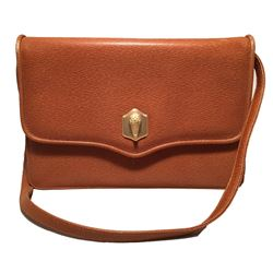 Barry Kiselstein Cord Tan Leather Shoulder Bag
