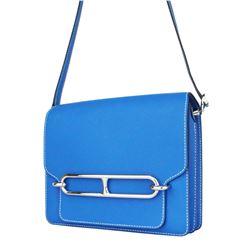 Hermes Roulis 23 Bleu Agate Zanzibar Evercolor Bag
