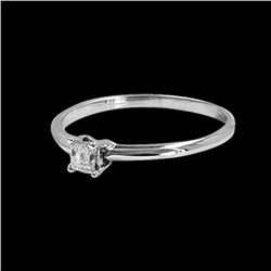0.16CT NATURAL DIAMOND 14K WHITE GOLD RING