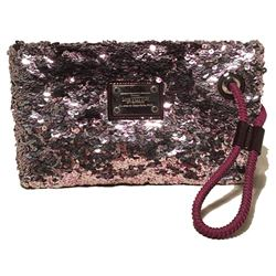 Limited Edition Louis Vuitton Violette Sequin Rococo Pochette Clutch Bag