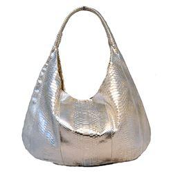 Devi Kroell Silver Snakeskin Xxl Hobo Shoulder Bag