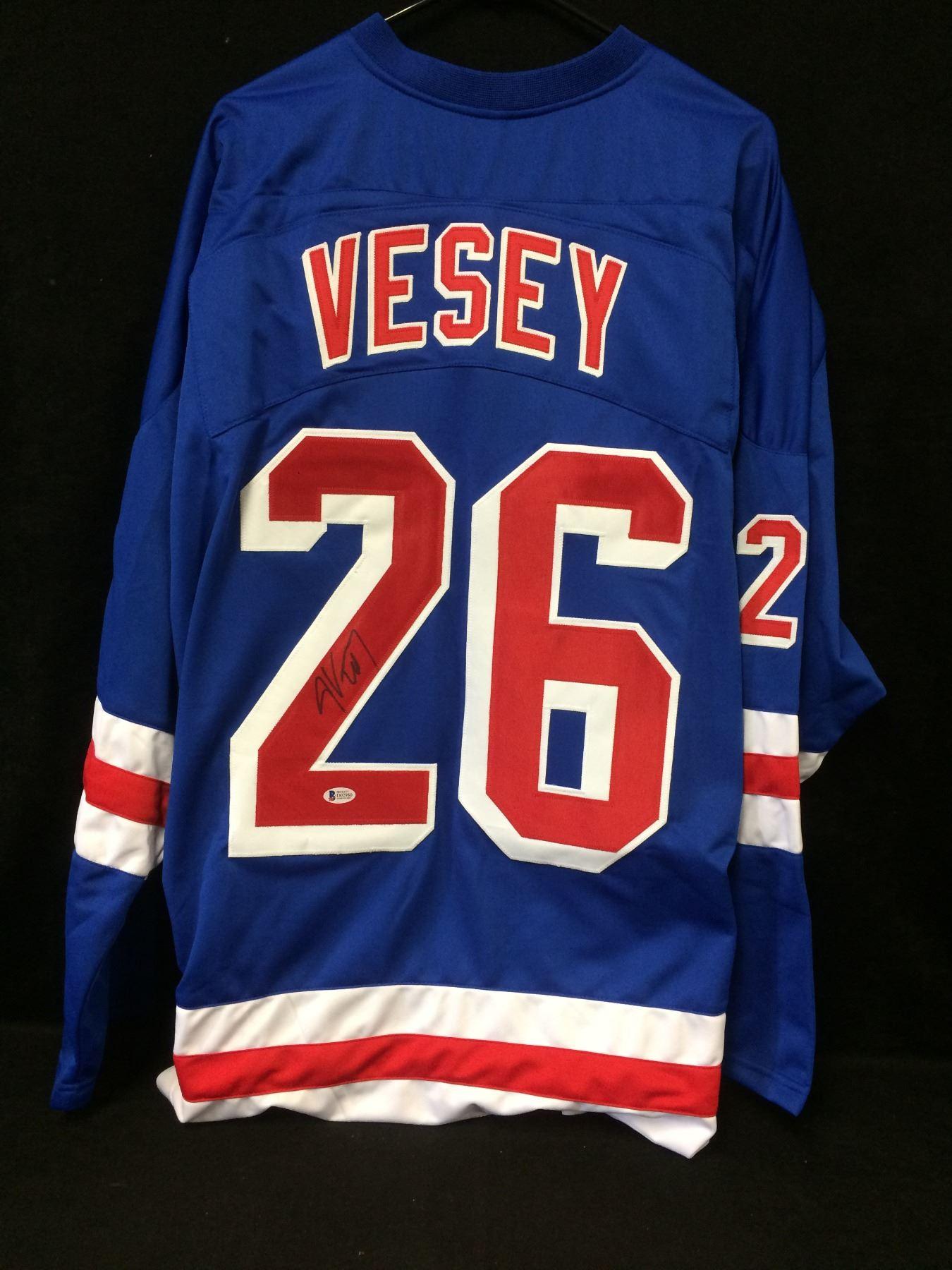 purchase cheap e2156 ec417 Jimmy Vesey Signed Rangers Jersey (Beckett COA)