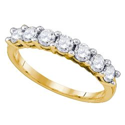 1.02 CTW Diamond Wedding Ring 10KT Yellow Gold - REF-97Y4X