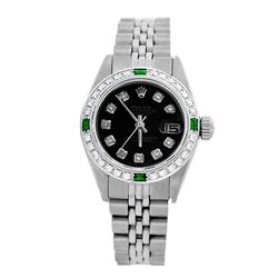 Rolex Pre-owned 26mm Womens Custom Black Stainless Steel - REF-470X4K