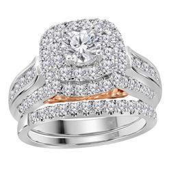 2 CTW Diamond Bellissimo Bridal Engagement Ring 14KT White Gold - REF-337H5M