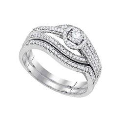0.38 CTW Diamond Bridal Wedding Engagement Ring 10KT White Gold - REF-57N2F