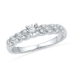 0.20 CTW Diamond Solitaire Bridal Ring 10KT White Gold - REF-20W9K