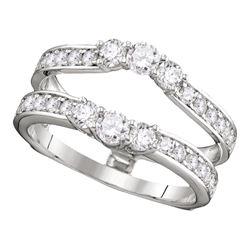 1 CTW Diamond Ring 14KT White Gold - REF-97N4F