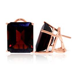 Genuine 14 ctw Garnet Earrings Jewelry 14KT Rose Gold - REF-70M2T