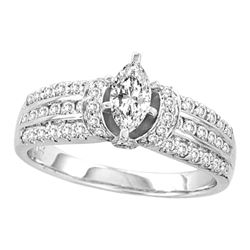 1.03 CTW Marquise Diamond Solitaire Bridal Engagement Ring 14KT White Gold - REF-165Y2X
