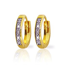 Genuine 0.02 ctw Diamond Anniversary Earrings Jewelry 14KT Yellow Gold - REF-27T5A