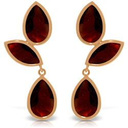 Genuine 13 ctw Garnet Earrings Jewelry 14KT Rose Gold - REF-62W4Y