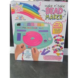 New Make and Bake Bead Maker/ mold, model & decorate your own jewelry