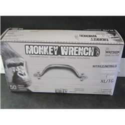 New Monkey Wrench 8 mil Heavy Weight Nitrile black disposable gloves